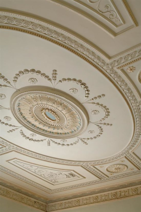 The restored Saloon ceiling