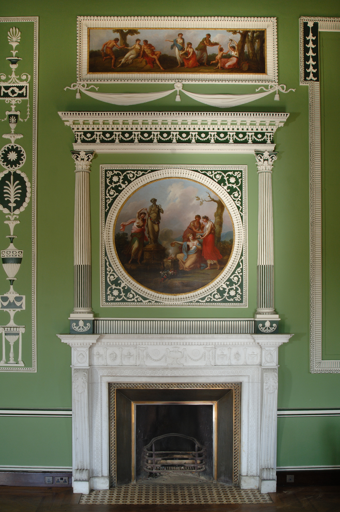 The chimney piece following the reinstatement of the scheme