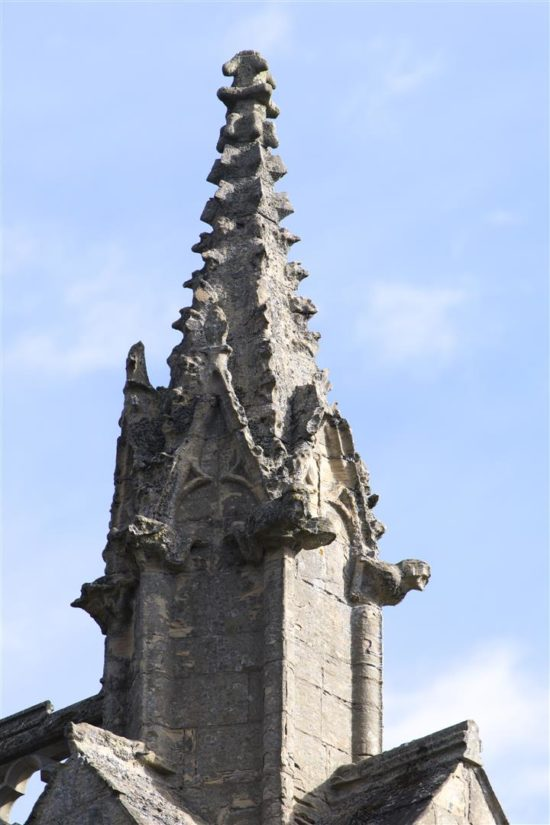 A pinnacle showing the signs of being exposed to the elements