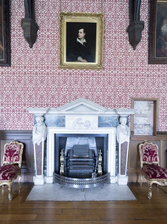 A portrait of Byron in the Great Drawing Room