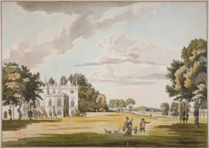 Watercolour of the exterior of Strawberry Hill