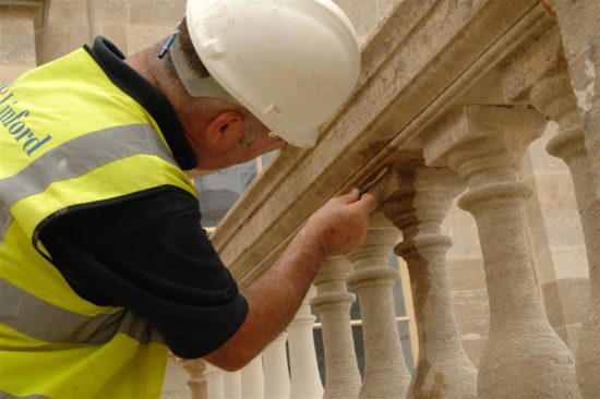 At its height of restoration 29 stonemasons worked on the exterior of Stowe