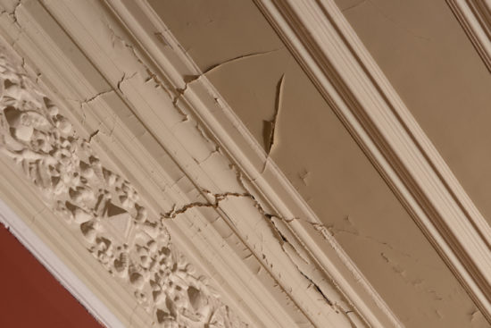 The interiors of the house need urgent repair