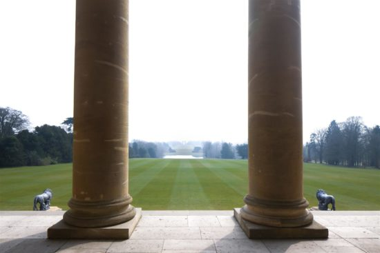 Keeping watch at the South Portico, the lions are poised to welcome the 150,000 visitors annual visitors to the site