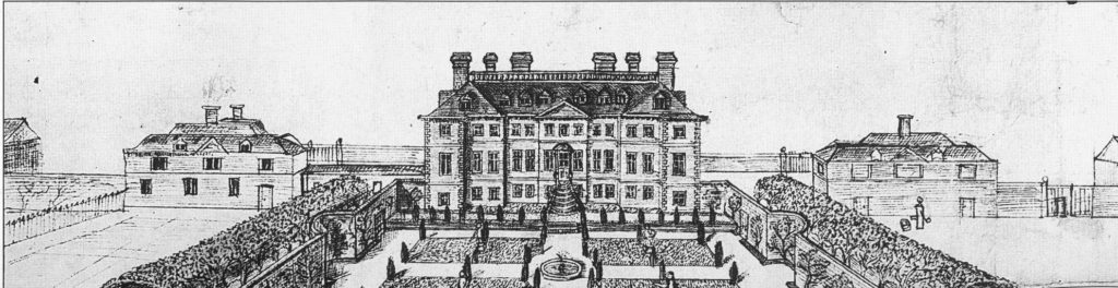 The South Front of Stowe as built in about 1663 (c.RCHME)