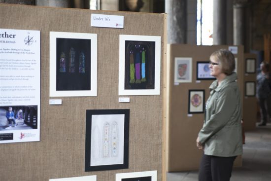 Some of the best artworks were displayed at Durham Cathedral