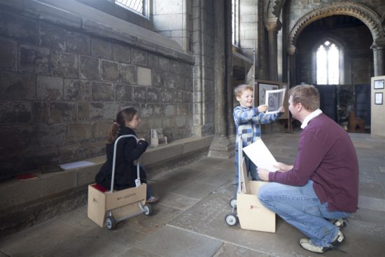 The art carts at Durham Cathedral were popular with families