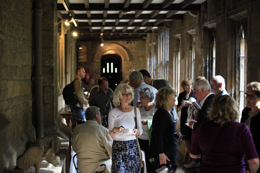 A public meeting at Newstead Abbey