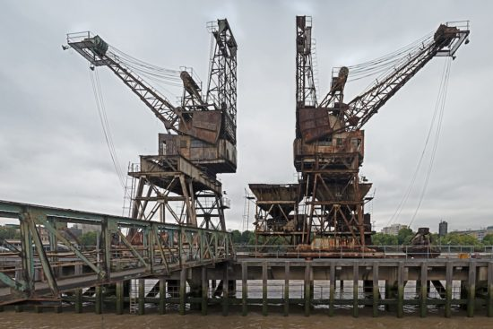 These cranes were used to help deliver coal to the power station