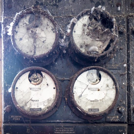 Dials used to monitor the ice production process