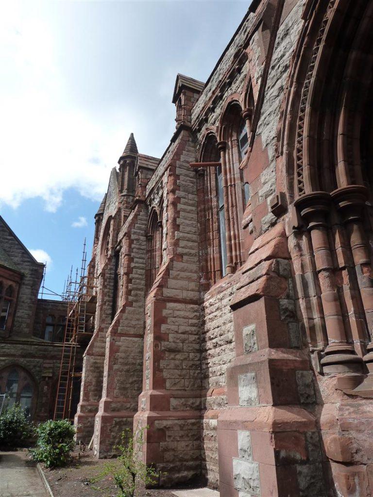 The exterior walls