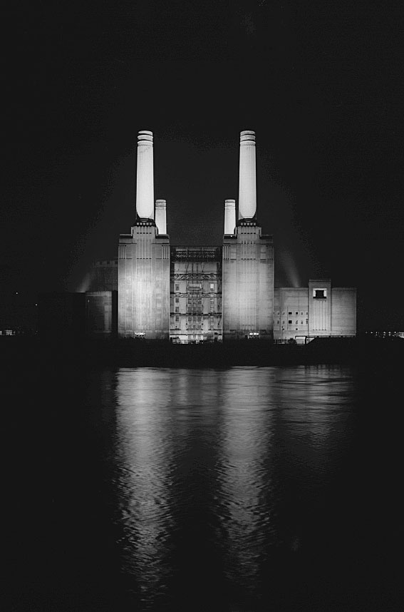 Battersea Power Station, North side at night