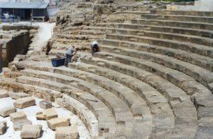 Malaga Roman Theater detail