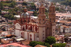 Country: Mexico Site: Santa Prisca Parish Church Caption: View of northwest facade  Date: November 12, 2006 Photographer: Arq. Isaac Estrada Guevara, Ars Habitat y Asociados, S.C./World Monuments Fund Provenance: 2012 Wilson publication images Original: email from Norma Barbacci
