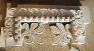 Completed and assembled mouldings