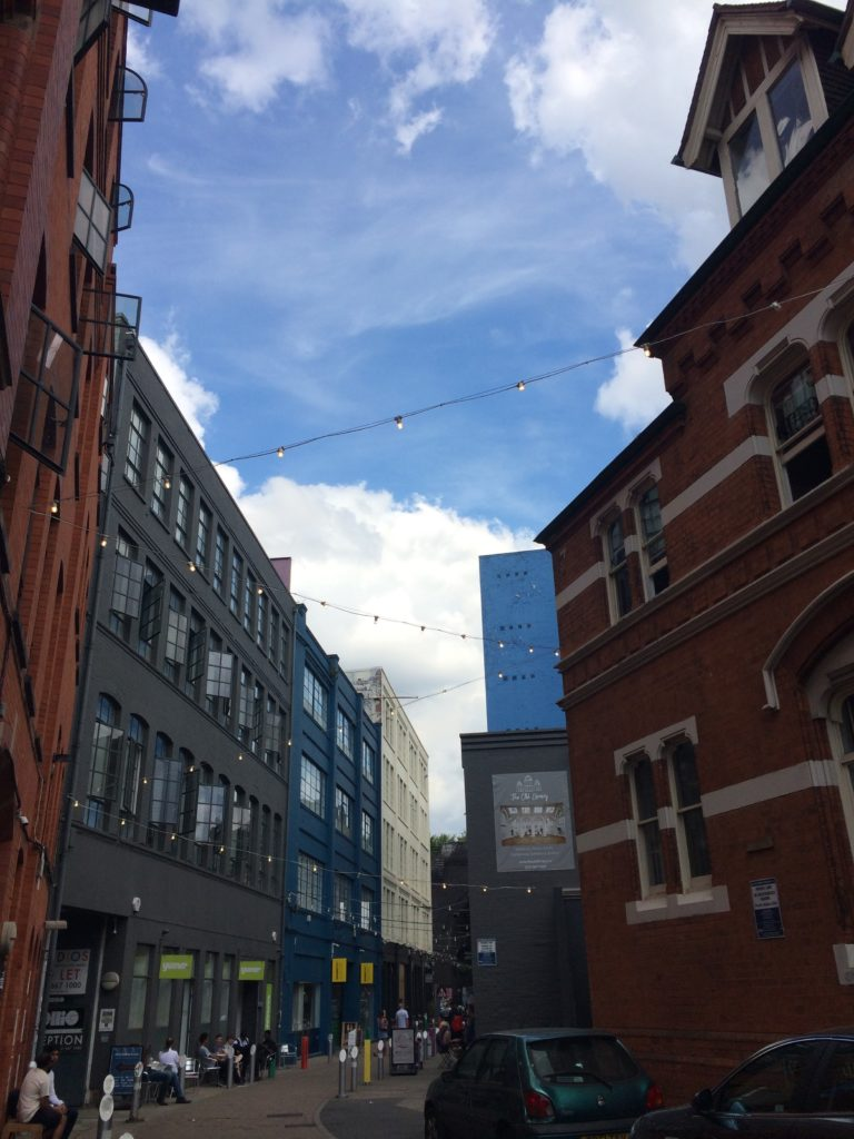 A view of the Custard Factory in Digbeth, home base to the local National Trust office as well as Joe Holyoak, author of the local neighborhood plan.