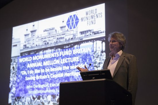John Darlington, WMF Britain Executive Director, introduces the lecture