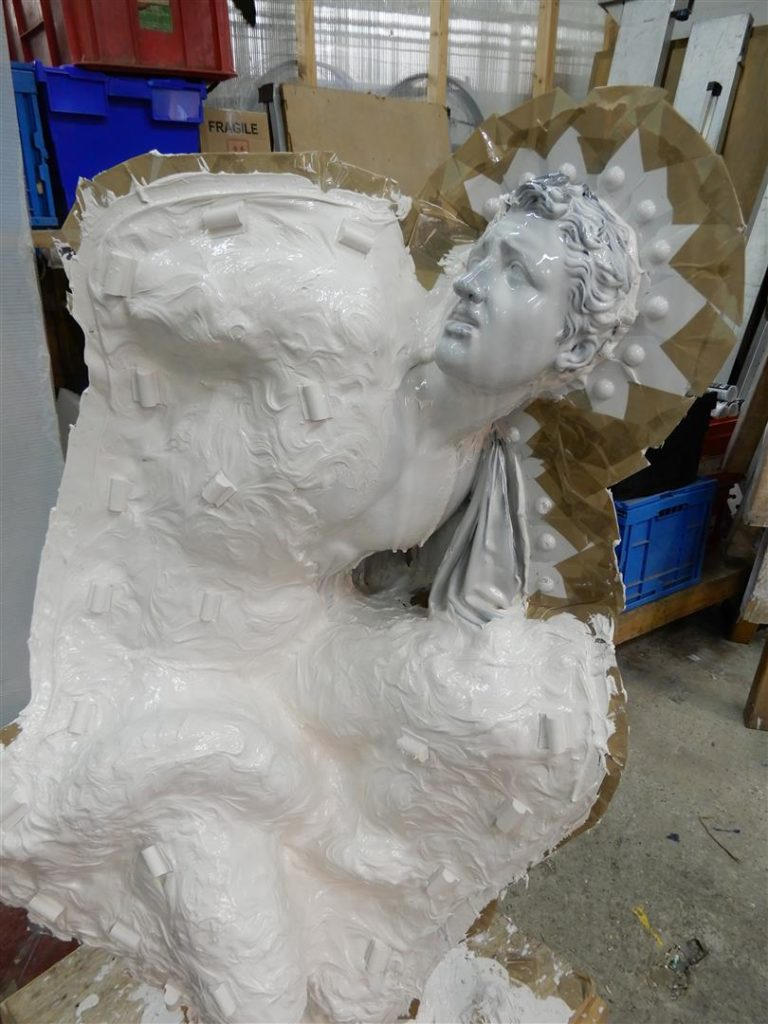 Moulds of the Laocoon are created in Rupert Harris' studio