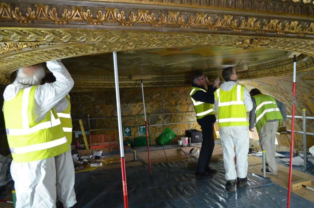 William Kent's ceiling undergoes conservation