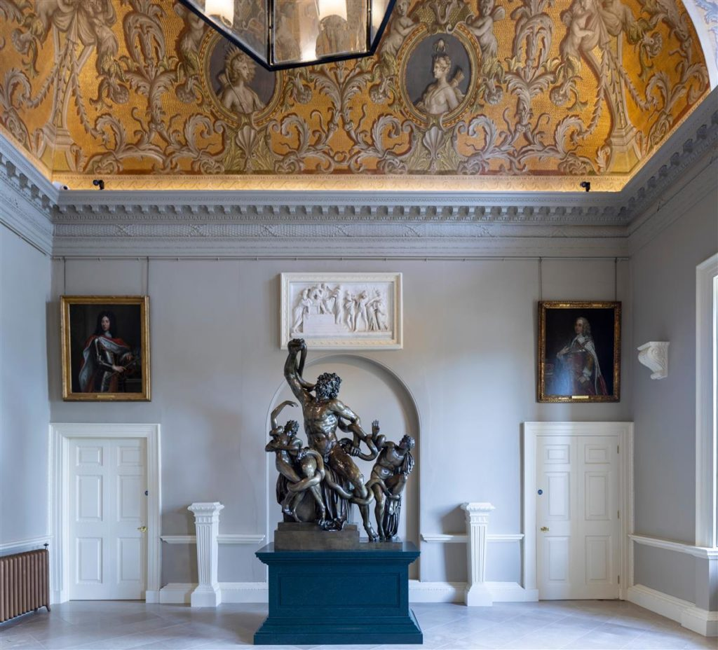 The restorated North Hall with the Laocoon in situ