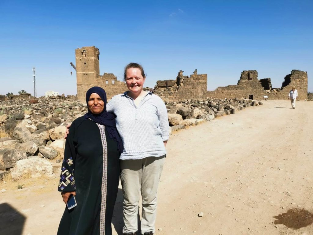 Becky Allison with Rema at Umm Al Jimal