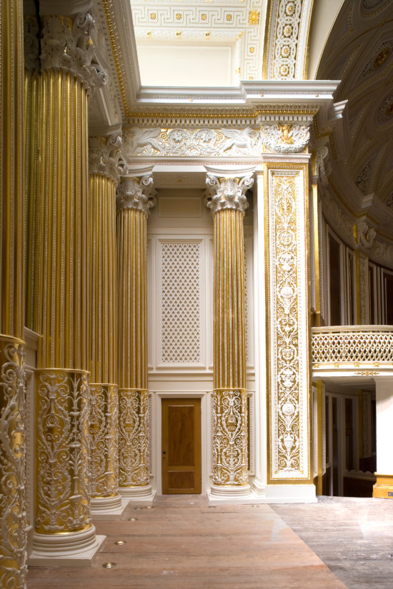 The Small Concert Room was intricately restored