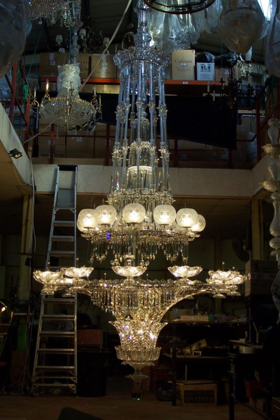 The chandelier in the workshop