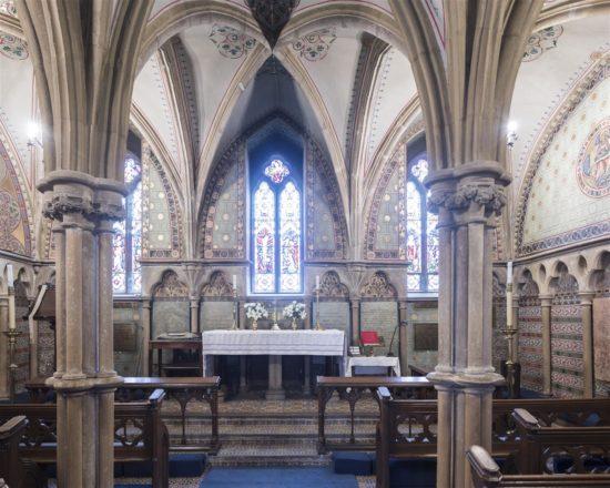 The chapel inside the Abbey is still in use