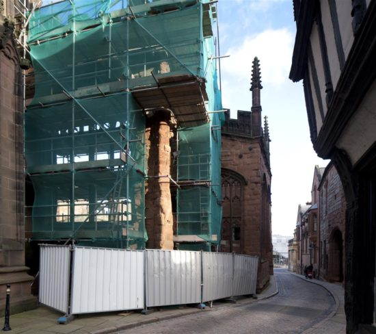 A two-inch crack opened in the south-west corner of St Michael's in the summer of