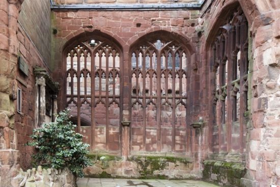 The removal of vegetation from the stonework was required to prevent swelling roots from bursting the masonry apart