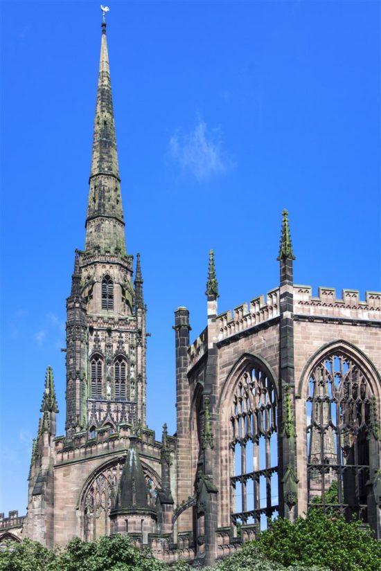 The iconic ruins of St. Michael's, Coventry