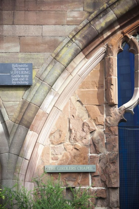 Sections of the stonework were replaced