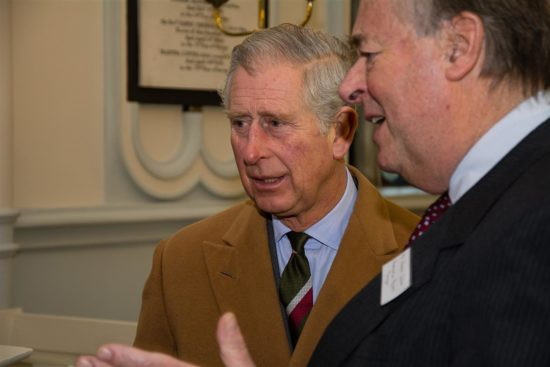 HRH Prince Charles visited the church to see the restoration work