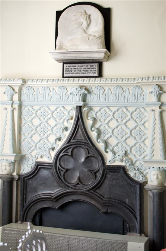 The interior finishing are very similar to those at Strawberry Hill in Twickenham