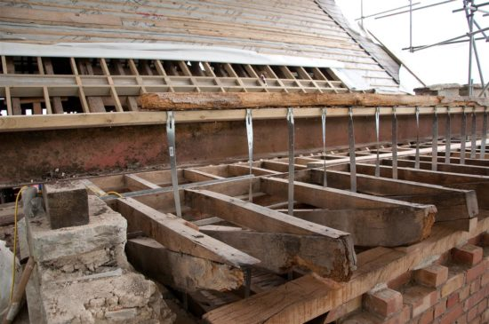 Rotting beams resulted in significant and damaging movement within the building