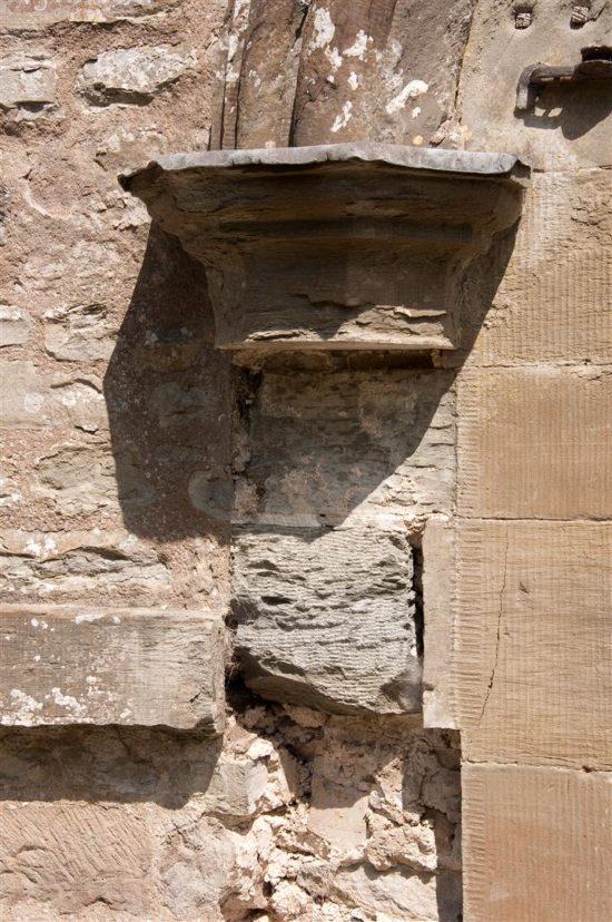 The exterior stonework required restoration