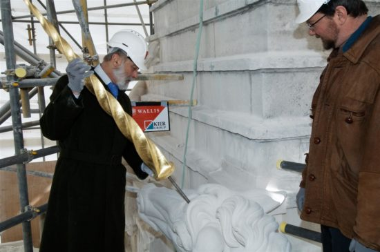 The unicorn's horn was put in place by former WMFB patron, HRH Prince Michael of Kent