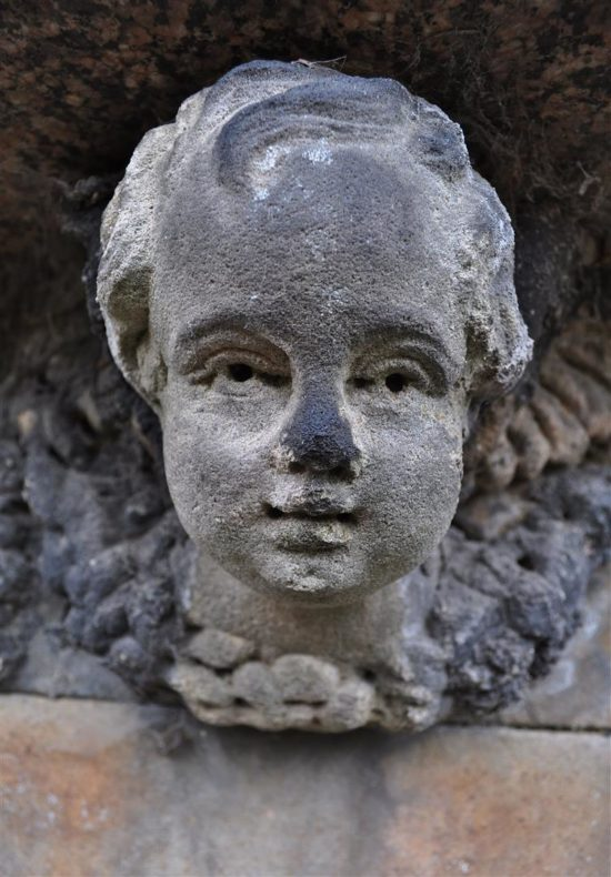 Faces are commonly seen on the graves