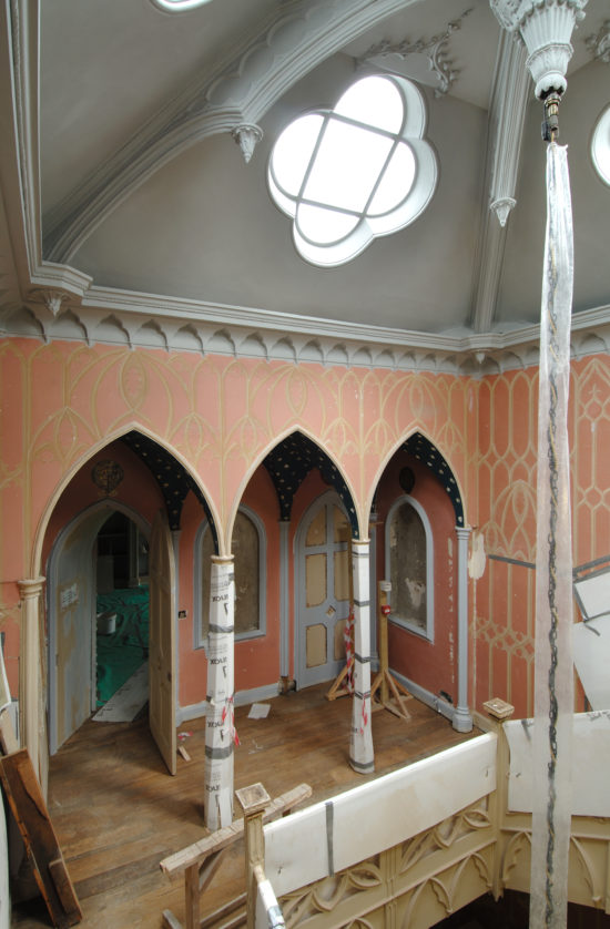 The hall during restoration