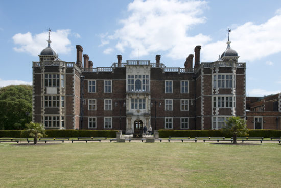 Charlton House viewed here from the public park that surrounds the building