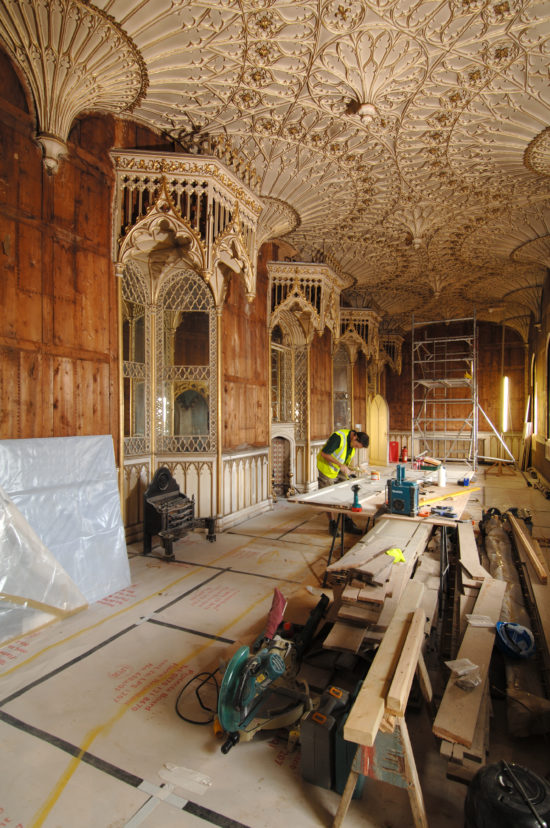 The Long Gallery underwent extensive work