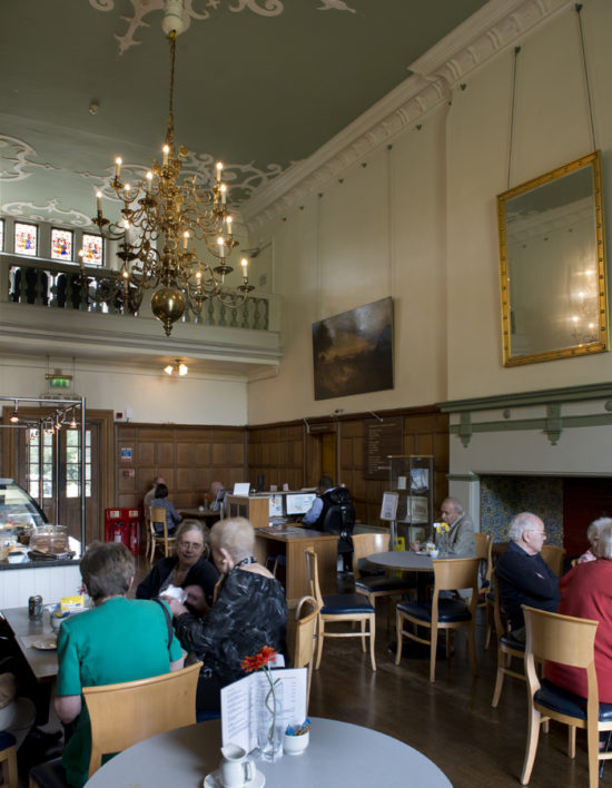 Visitors enjoy the Mulberry Tea Rooms housed in the Hall