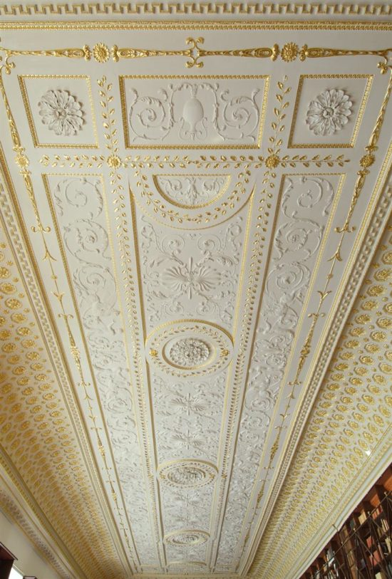 The restored ceiling once again has the 'wow factor'
