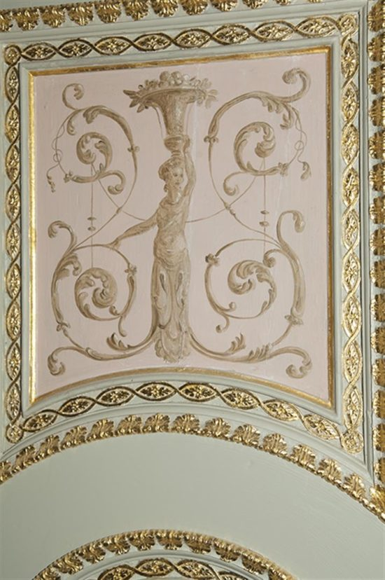 Repairs needed to be made to the decorative plaster work on the