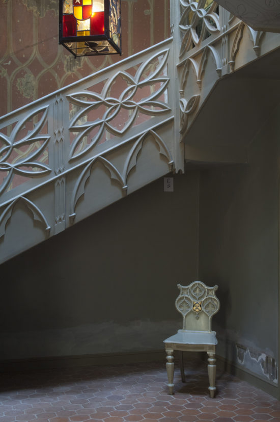 The restored hall and stairway