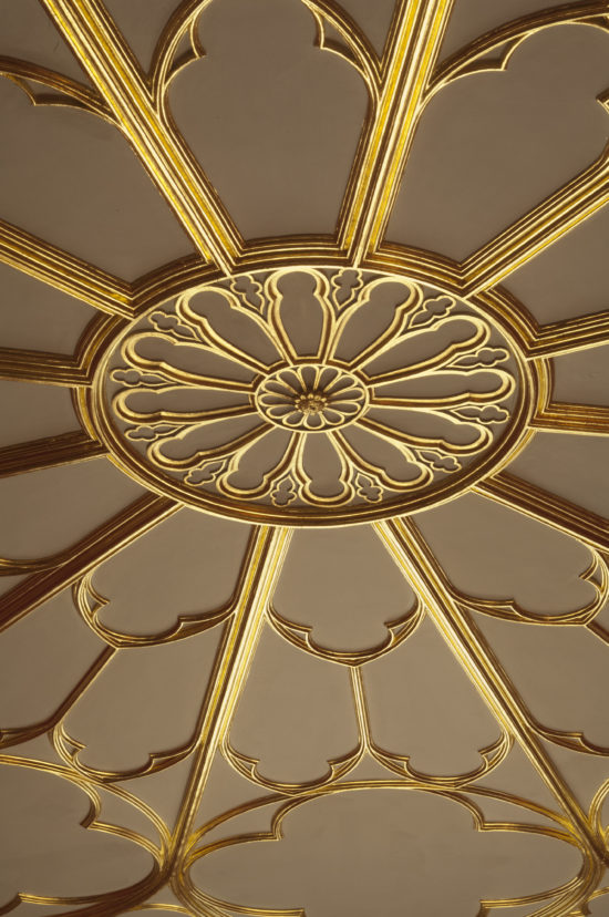 A ceiling detail in The Round Drawing Room