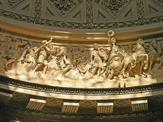 A detail of the frieze
