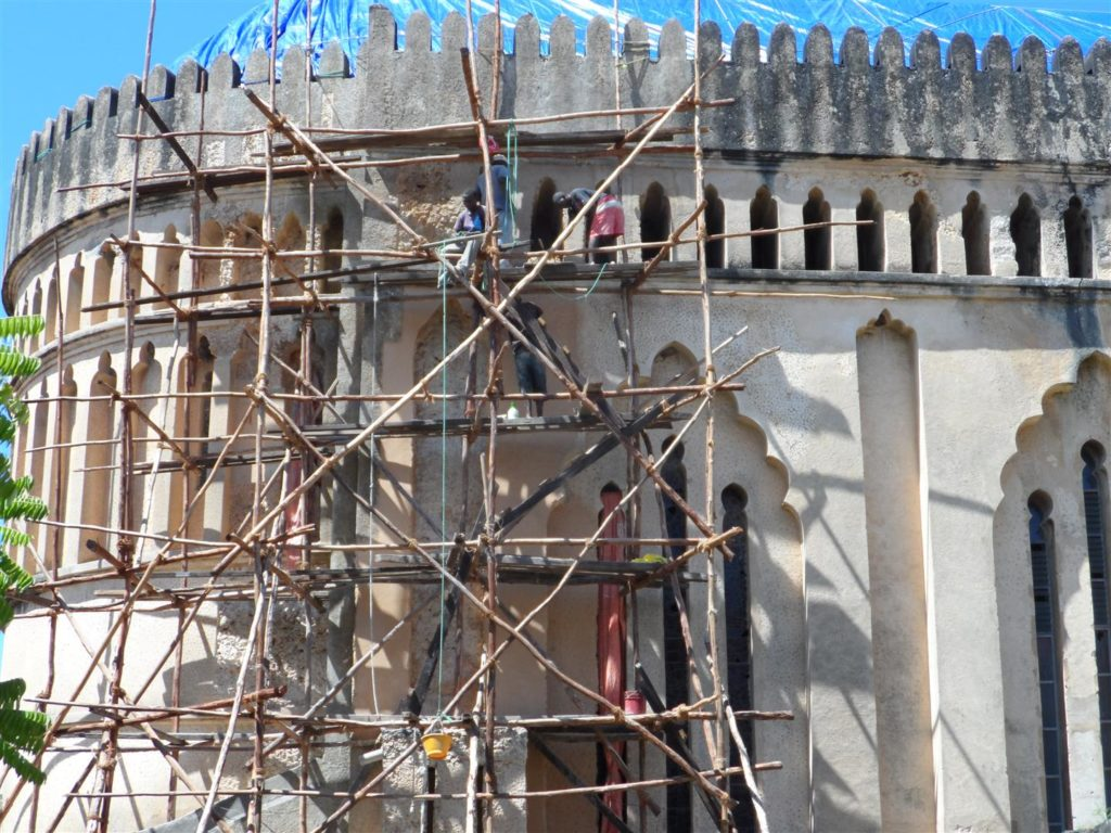 The exterior of the cathedral was cleaned thoroughly with lime water