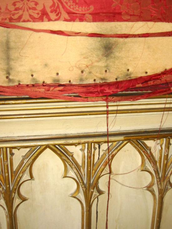 Decorative finishes were deteriorating