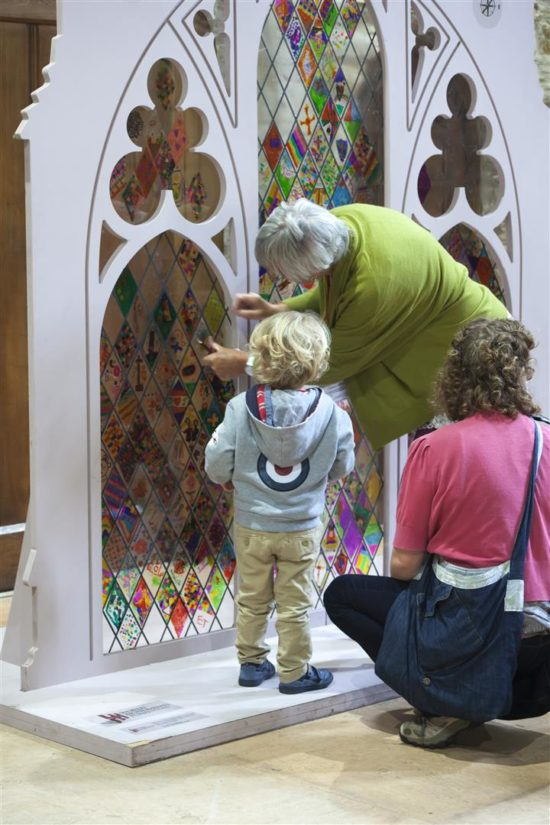 Youngsters at Durham Cathedral also had the opportunity to participate in a stained glass window activity